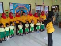 Gerakan Nasional Baca buku Paud dan TK Di Karanganom dan Jatinom lancar