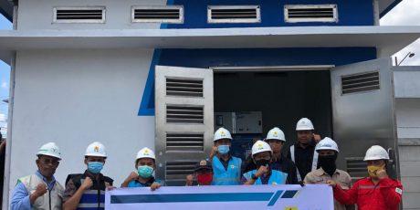 Penyambungan listrik oleh PLN UP3 Klaten untuk KRL Solo-Jogja Stasiun Brambanan dan Srowot daya 5.540 KVA