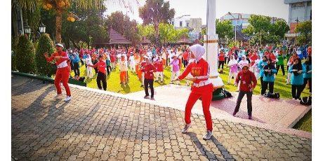 67 Komunitas Lansia Klaten Ikuti Senam Bersama Hari Ini