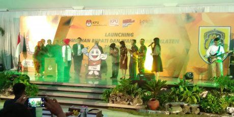 KPU Klaten Launching Pilkada Dan Maskot Jingle Di Gedung Pandanaran