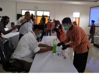 Walaupun Salah Satu Tidak Datang, KPU Klaten Nyatakan Sah Pendaftaran Paslon One Krisnata- Muhammad Fajri