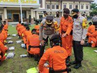 Polres Klaten menggelar Apel Kontijensi menghadapi bencana erupsi Gunung Merapi