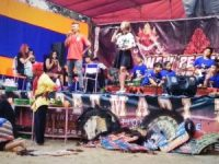 Kolaborasi Mr. Rebo-Pak Ju-Tenco Wijaya di HUT RI Ke-74 Acara Muda-Mudi Dukuh Randulanang Jatinom, Bikin Kagum Penonton